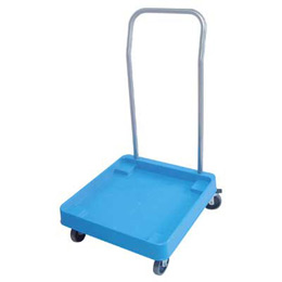 Trolley for racks with handle